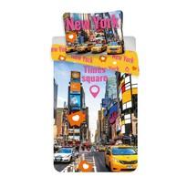 Pościel bawełniana Times Square, 140 x 200 cm, 70 x 90 cm