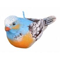 Świeczka dekoracyjna Ptaszek, niebieski