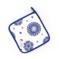 Kuchyňská podložka Blue laces, 18 x 18 cm