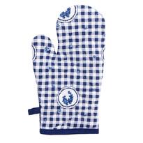 Rękawica kuchenna Country kratka niebieski, 17 x 27 cm