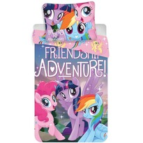 Lenjerie de pat din bumbac, pentru copii,My Little Pony Friendship adventure, 140x200 cm, 70x90 cm