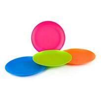 4dielna sada plytkých plastových tanierov
