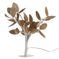 Svietiaci stromček so zlatými lístkami, 20 LED