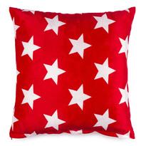 Poduszka pluszowa Stars czerwony, 40 x 40 cm