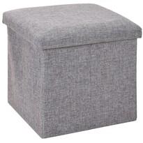 Úložný sedací box Tessile sivá, 38 x 38 x 38 cm