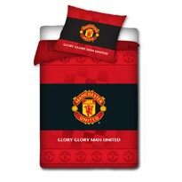 Bavlnené obliečky Manchester United s erbom, 140 x 200 cm, 70 x 80 cm