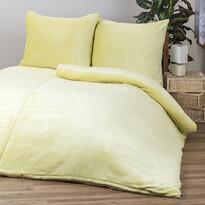 Obliečky Mikroplyš žltá, 140 x 200 cm, 70 x 90 cm
