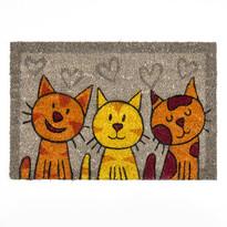 Macskák kókusz lábtörlő szürke, 40 x 60 cm
