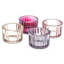Zestaw szklanych świeczników Maroon