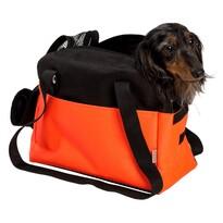 Transportná taška Boseň Lux oranžovo-čierna, 30 cm