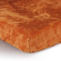 Prestieradlo Mikroplyš oranžová, 180 x 200 cm