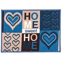 Vnitřní rohožka Sweet Home modrá, 50 x 70 cm