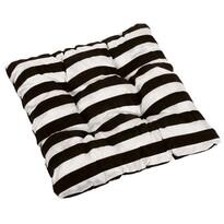 Sedák Leona pruhy čierna a biela, 40 x 40 cm