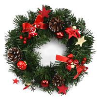 Coroniţă de Crăciun Esponja, roşu, diam. 30 cm