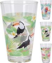 Koopman tukan, papagáj, flamingó pohárkészlet, 300 ml, 3 db