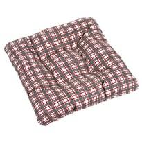Sedák Adela Mriežka sivočervená, 38 x 38 cm