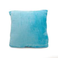 Vankúšik Mikroplyš New modrá, 40 x 40 cm