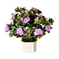 Umělá květina Azalka fialová, 35 cm