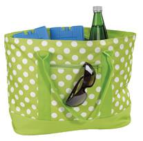Chladiaca nákupná taška bodky 22 l, zelená