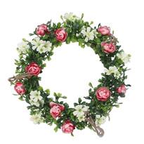 Coroniță artificială Trandafiri diametru 25 cm.