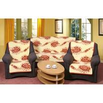 Prehozy na sedaciu súpravu Karmela kvit tehlové, 150 x 200 cm, 2 ks 65 x 150 cm