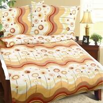 Lenjerie de pat din flanelă Val, galben, 140 x 220 cm, 70 x 90 cm