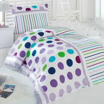 Pera pamut ágyneműhuzat lila, 140 x 200 cm, 70 x 90 cm