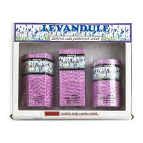 Dárková sada parafínových svíček levandule