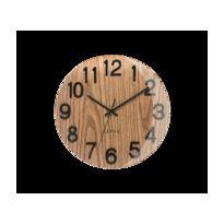 Zegar ścienny Lavvu Nord Black Oak, śr. 30 cm