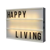 Dekoračná svietiaca tabuľa Happy living, 15 x 10,5 cm