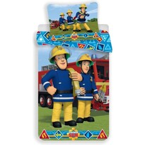Dětské bavlněné povlečení Požárník Sam s hadicí, 140 x 200 cm, 70 x 90 cm