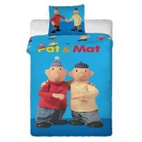 Detské bavlněné obliečky Pat a Mat blue, 140 x 200 cm, 70 x 90 cm