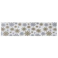 Bieżnik Snowflakes biały, 33 x 140 cm