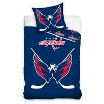 Lenjerie pat fosforescentă NHL Washington , bumbac,  140 x 200 cm, 70 x 90 cm