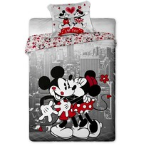 Bavlnené obliečky Mickey a Minnie in NY, 140 x 200 cm, 70 x 90 cm