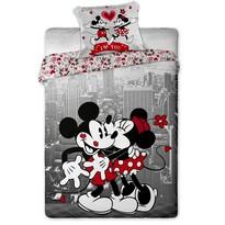 Dziecięca pościel bawełniana Mickey i Minnie in NY, 140 x 200 cm, 70 x 90 cm