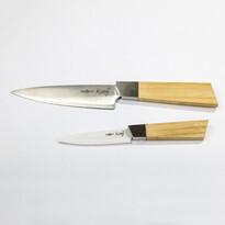 Keramický a oceľový nôž Kanji, bambusová rukoväť, sada 2 nožov