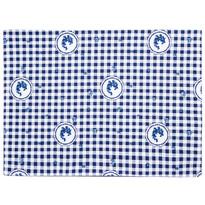 Suport farfurie Country cu pătrate, albastru, 33 x 45 cm