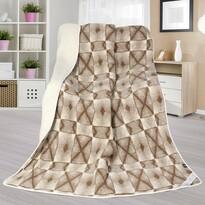 Vlnená deka Európske merino DUO Krížiky, 155 x 200 cm