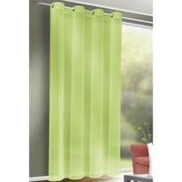 Draperie cu inele Till verde, 140 x 245 cm