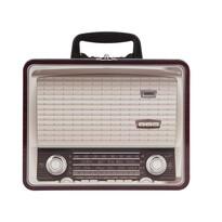 Plechová dóza Rádio, hnedá