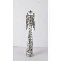 Kovový anděl s krajkovou sukní na čajovou svíčku