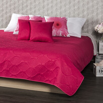 4Home Narzuta na łóżko Doubleface różowy/szary, 240 x 220 cm, 2x 40 x 40 cm