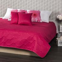 4Home Doubleface rózsaszín/szürke ágytakaró, 240 x 220 cm, 2x 40 x 40 cm