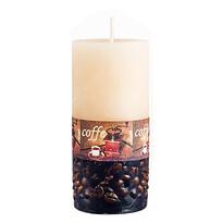 Sviečka s dekorom kávových zŕn valec