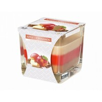 Świeczka w szkle Tęcza Jabłko i cynamon, 170 g
