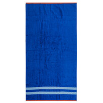 Plážová osuška Blossom modrá, 90 x 170 cm