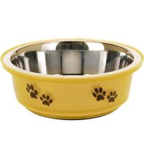 Etetőtál kutyáknak sárga, 400 ml