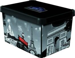 Dekoratívny úložný box Curver PARIS