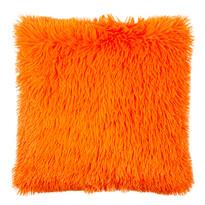 Obliečka na vankúšik Chlpáč Peluto Uni oranžová, 40 x 40 cm